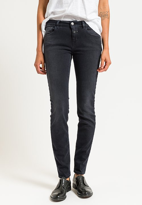 Closed Baker Long Narrow Jeans in Smoked Black