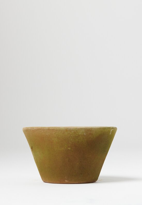 Small Aged Oval Planter in Green