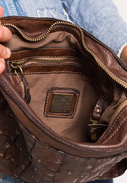 Campomaggi Pocket Bag with Studs in Brown