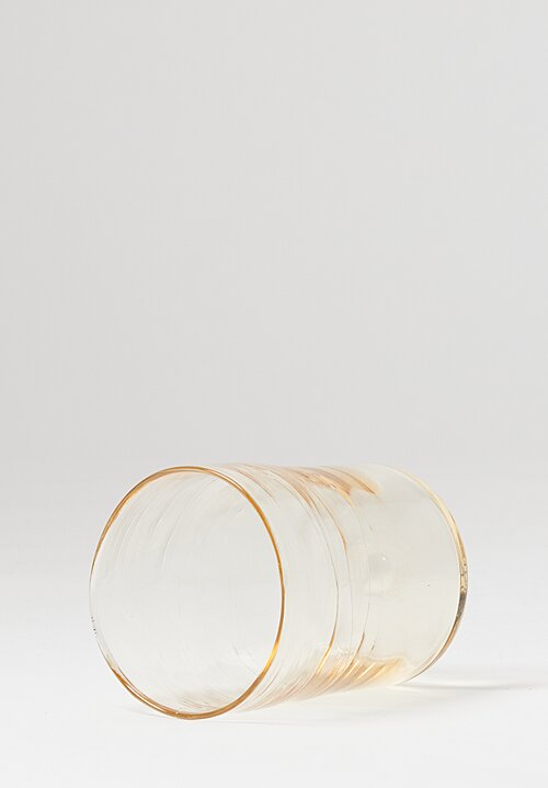 Michael Ruh Handblown Juice Glass in Straw