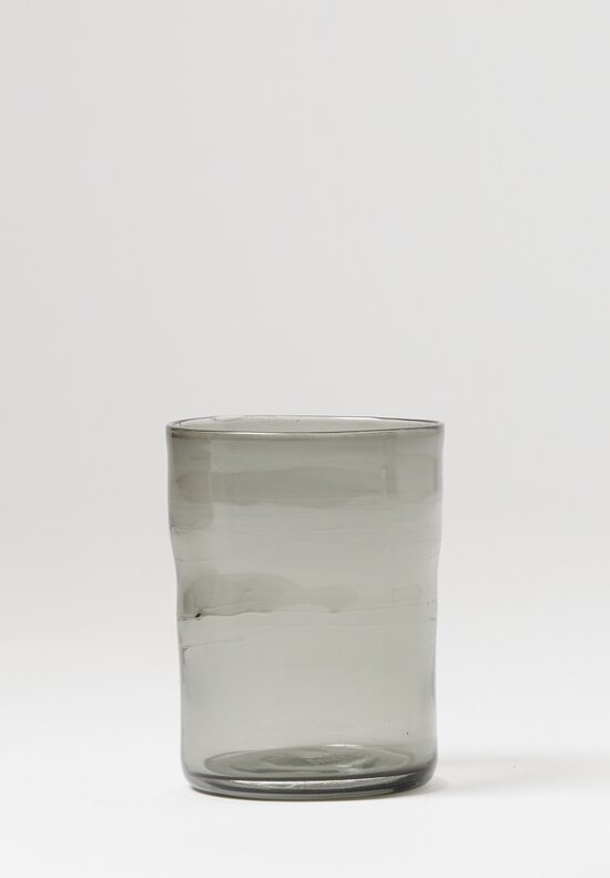 Michael Ruh Handblown Juice Glass in Neutral Grey