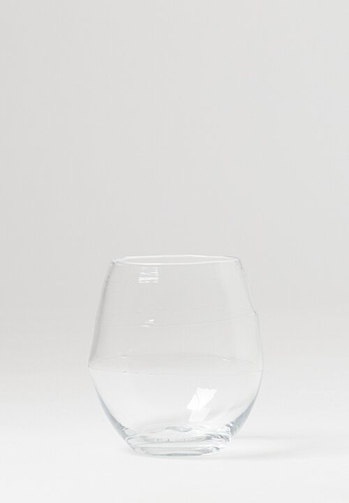 Michael Ruh Handblown Tumbler Glass in Clear