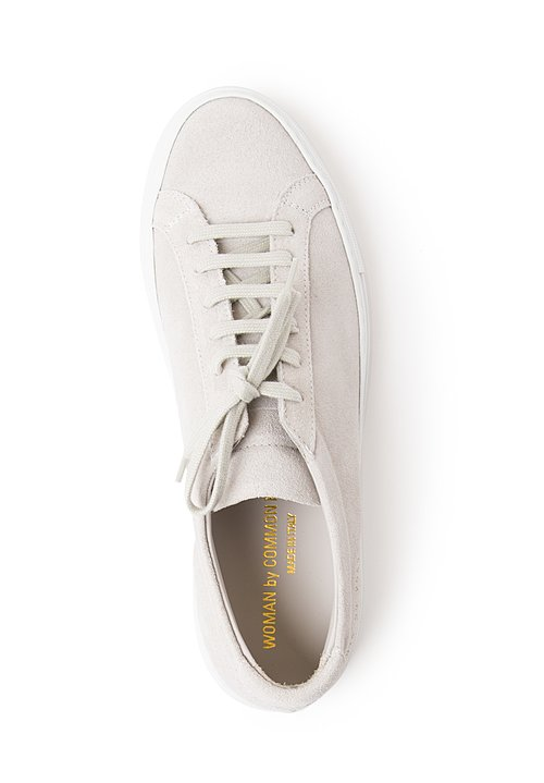 Common Projects Original Achilles Low Suede Sneakers in Grey