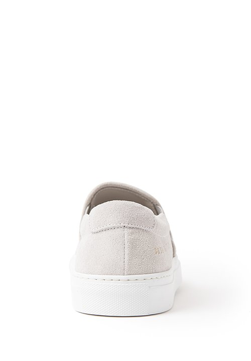 Common Projects Suede Slip-On Shoes in Grey
