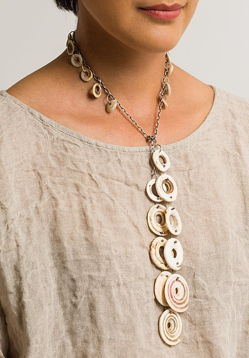 Holly Masterson One-of-a-Kind Shell Currency Necklace & Headband