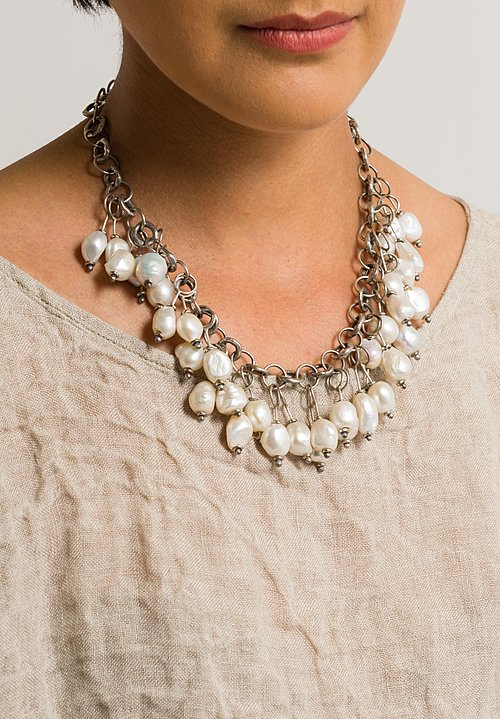 Holly Masterson Links & Baroque Pearl Necklace