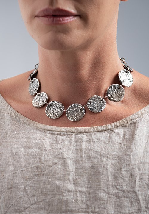 Holly Masterson Large Sterling Disk Necklace