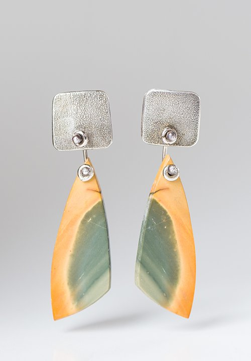 Holly Masterson Red Creek Jasper Triangle Earrings
