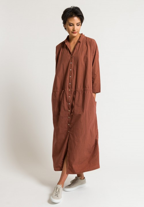 Album di Famiglia Notch Collar Dress in Brandy