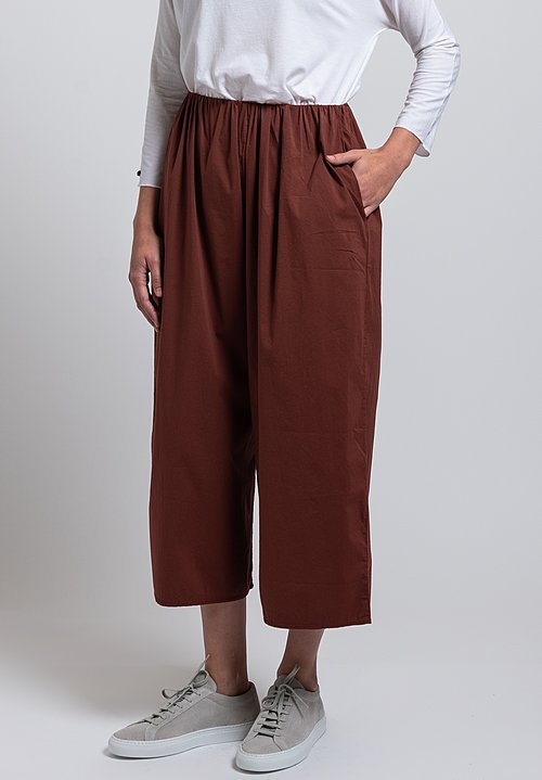 Album di Famiglia Relaxed Pants in Brandy