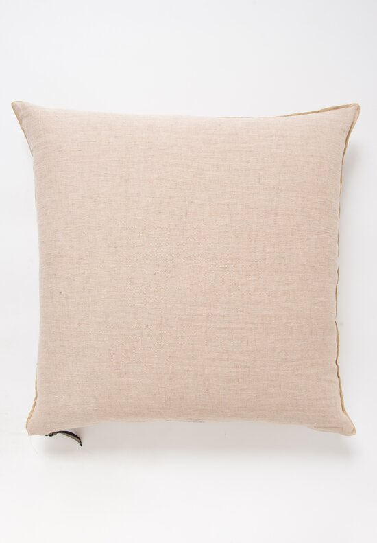 Maison de Vacances Large Crumpled Washed Linen Pillow in Nude / Givré