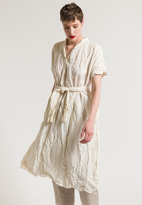 Daniela Gregis Manichina Dress in Light Yellow