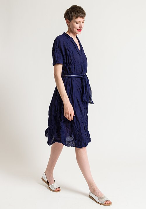 Daniela Gregis Manichina Dress in Indigo Blue