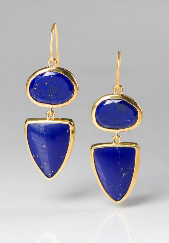 Greig Porter 22K, Lapis Drop Earrings
