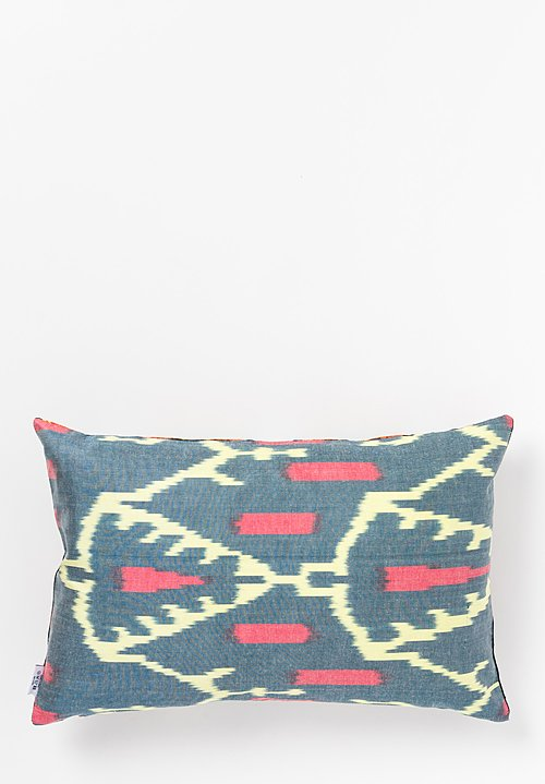 Les-Ottomans Suzani Pillow in Black/ Blue