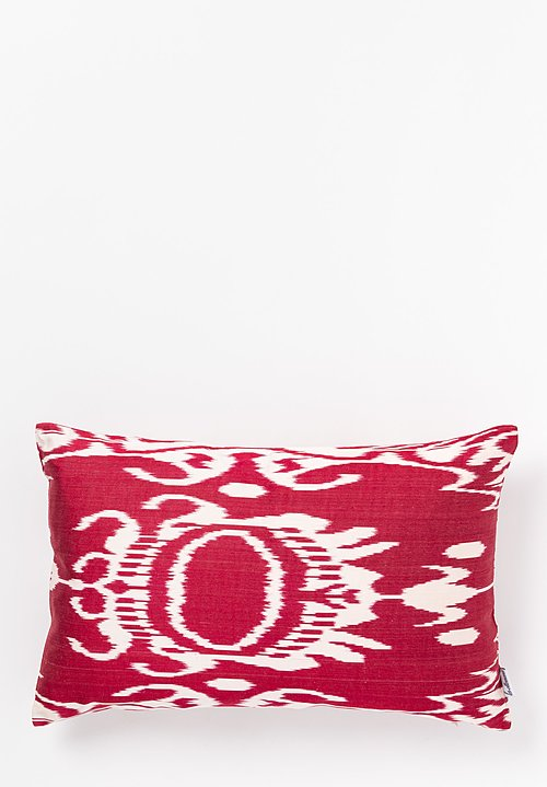 Les-Ottomans Ikat Print Pillow in Red