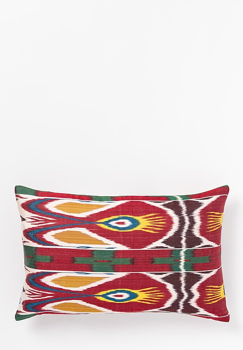 Les-Ottomans Ikat Print Pillow in Red Multi