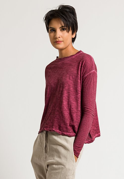 Gilda Midani Straight Trapeze Tee in Bordeaux