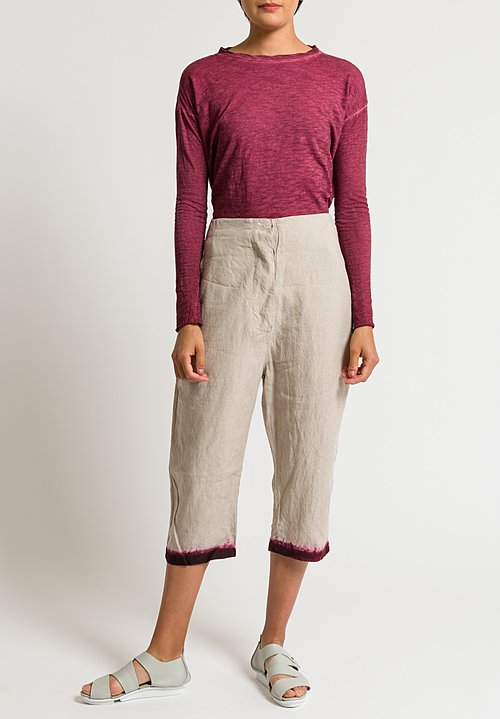 Gilda Midani Tailor Pants in Bordeaux Dip