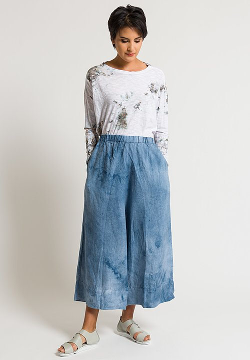 Gilda Midani Linen Pants in Silver Blue