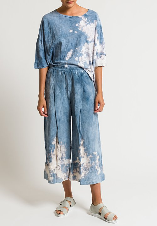 Gilda Midani Pleats Pants in Blue Explosion