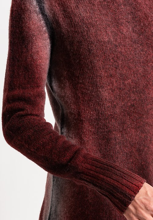Avant Toi Cashmere Turtleneck Ombre Sweater in Coral