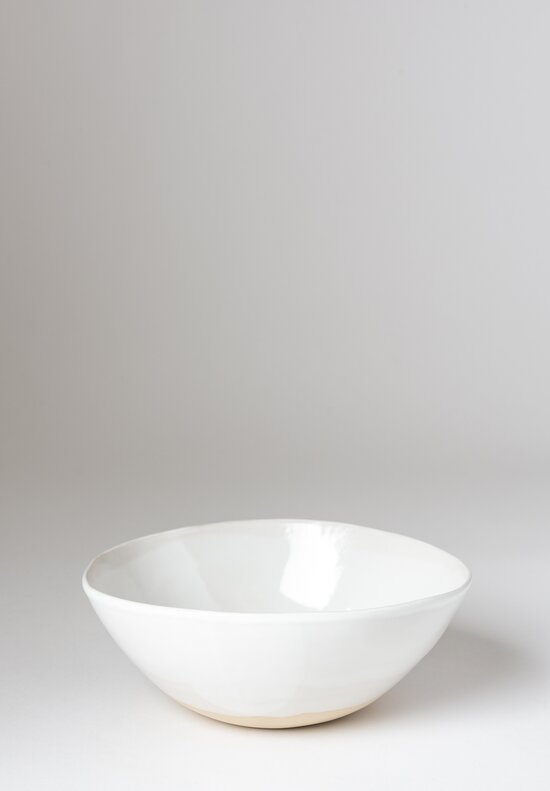 Christiane Perrochon Stoneware Bowl in Shiny White