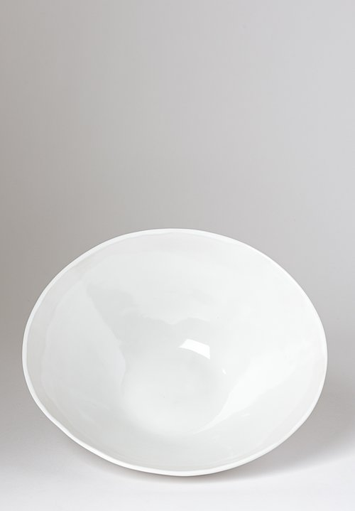 Christiane Perrochon Stoneware Serving Bowl in Shiny White