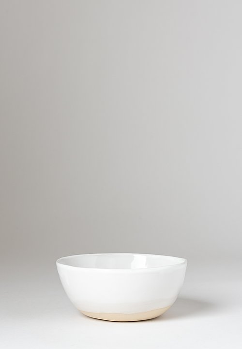 Christiane Perrochon Stoneware Cereal Bowl in Shiny White