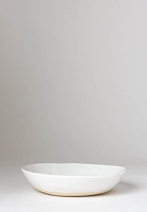 Christiane Perrochon Stoneware Soup Bowl in Shiny White