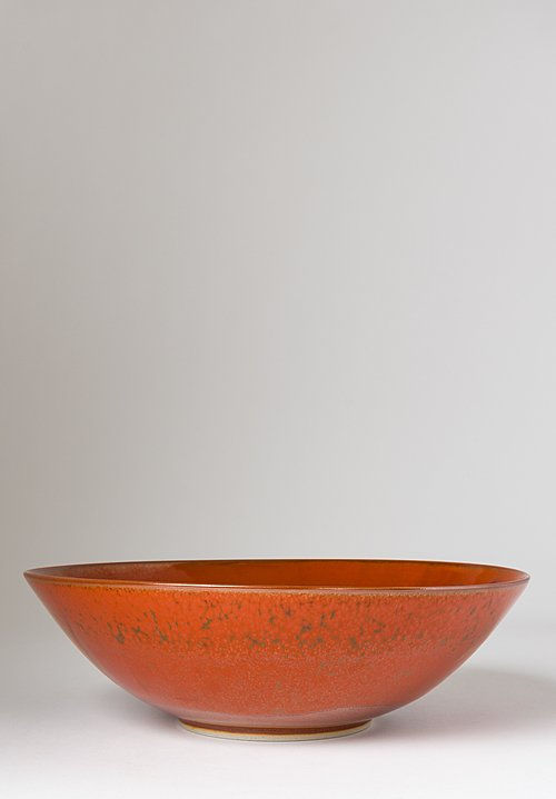 Christiane Perrochon Large Stoneware Serving Bowl in Iron Red