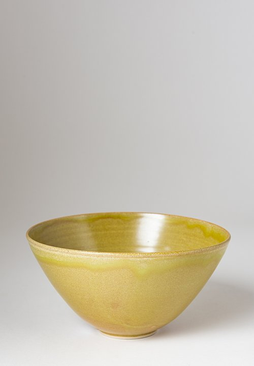 Christiane Perrochon Stoneware Nesting Bowl in Green Yellow
