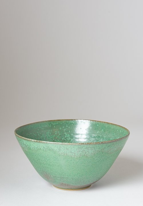 Christiane Perrochon Stoneware Nesting Bowl in Crystal Green