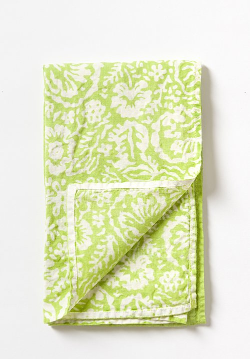 Handmade Crumpled Kitchen Towel in Verde