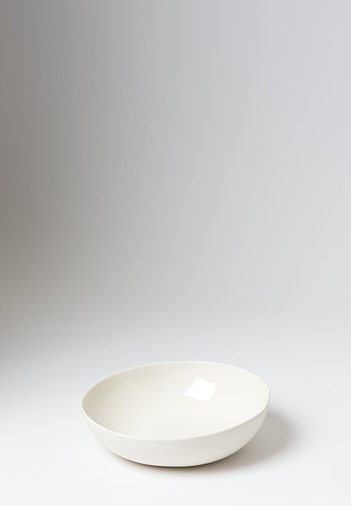 Bertozzi Porcelain Shallow Salad Bowl in White
