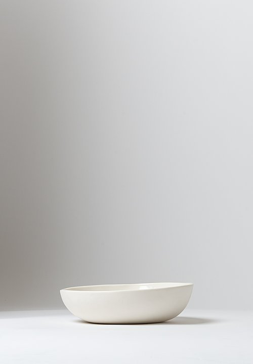 Bertozzi Porcelain Shallow Salad Bowl in Bianca