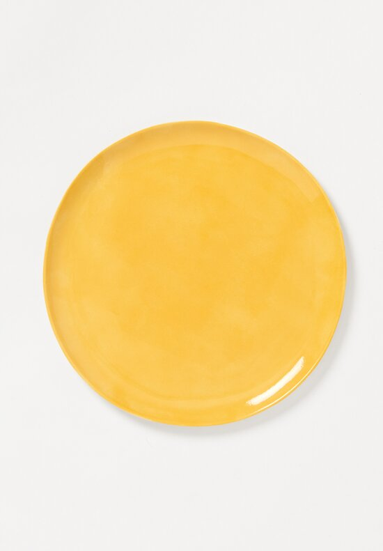 Bertozzi Solid Painted Dinner Plate in Giallo Yellow