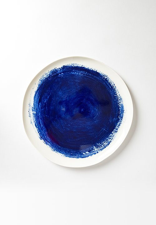 Painted Dinner Plate in Blu