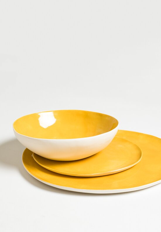 Solid Painted Dessert Plate in Giallo