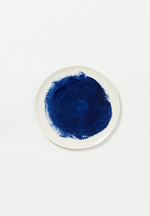 Bertozzi Painted Dessert Plate in Blue