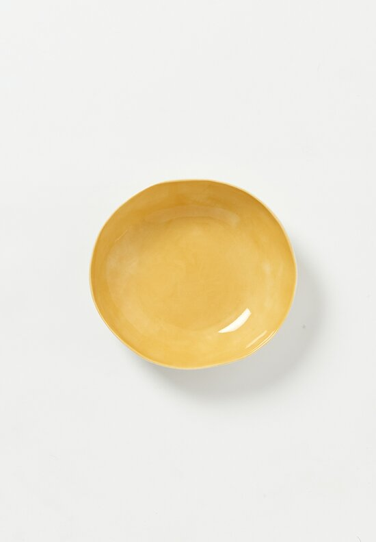 Bertozzi Interior Painted Shallow Soup Bowl in Gold