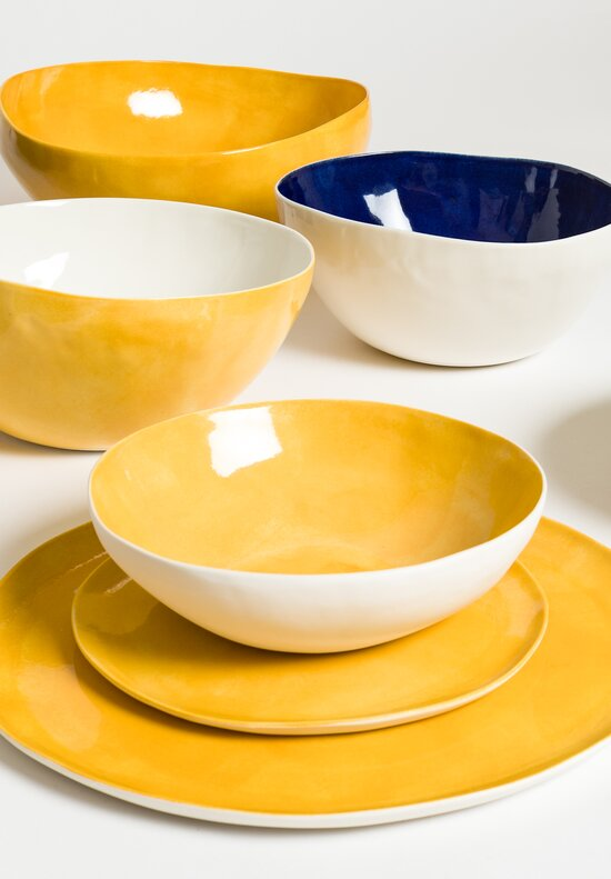 Bertozzi Interior Painted Shallow Soup Bowl in Giallo