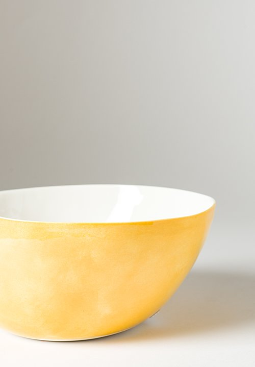 Exterior Solid Painted Salad Bowl in Giallo