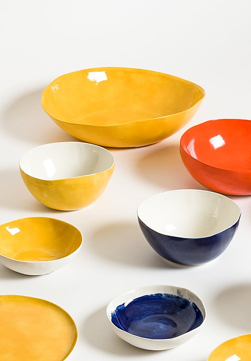 Exterior Solid Painted Salad Bowl in Gold