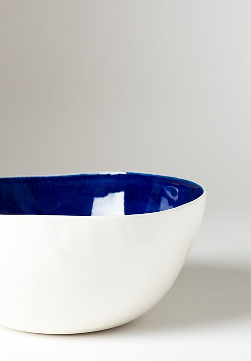 Interior Solid Painted Salad Bowl in Blu