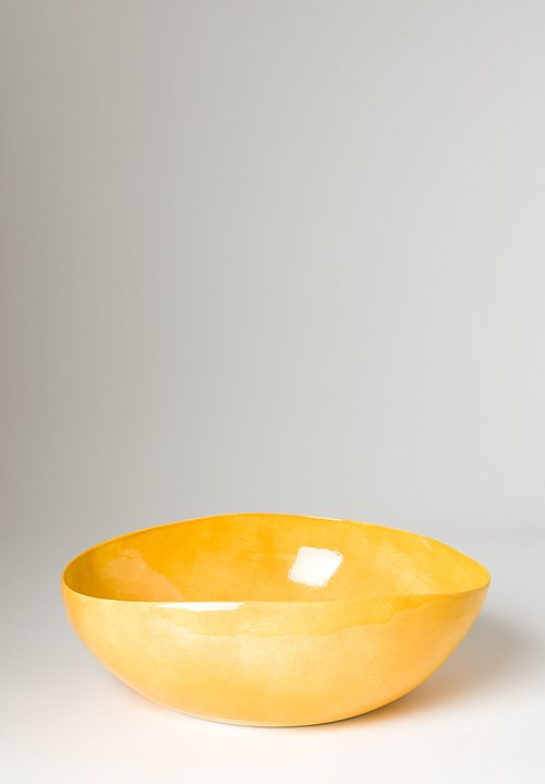 Solid Painted Large Serving Bowl in Giallo