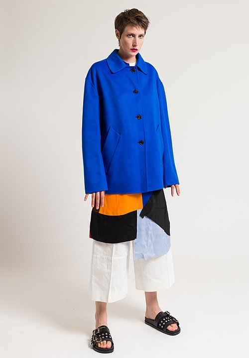 Marni Oversized Coat in Mazarine Blue