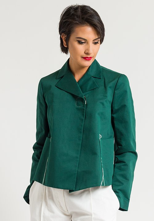 Marni Solid A-Line Jacket in Emerald