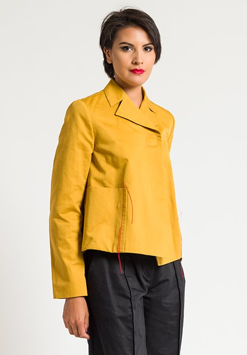 Marni Solid A-Line Jacket in Gold