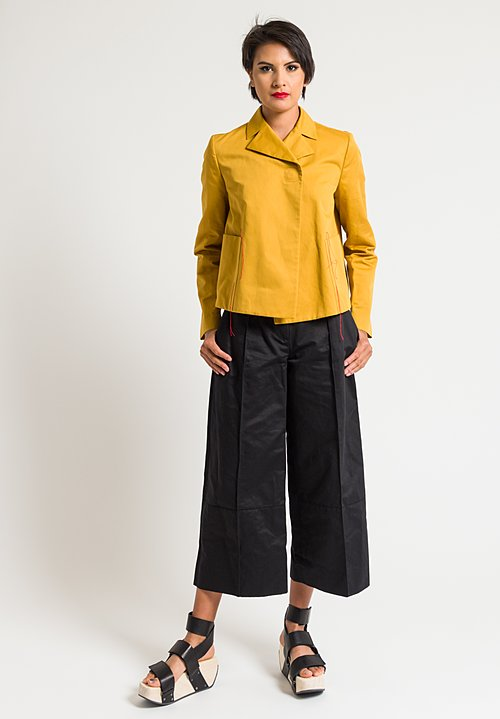 Marni Drill Wide Leg Pants in Black